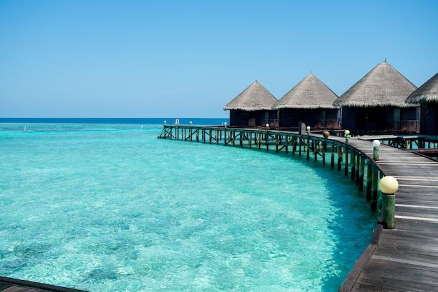 Maldives beach resort  summer vacation
