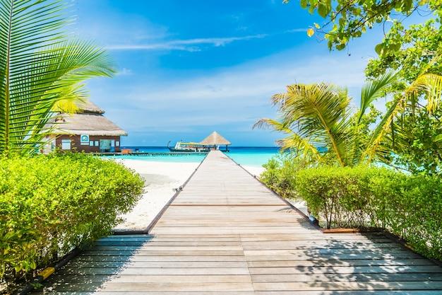 몰디브 하우스 이국적인 여행 바다
