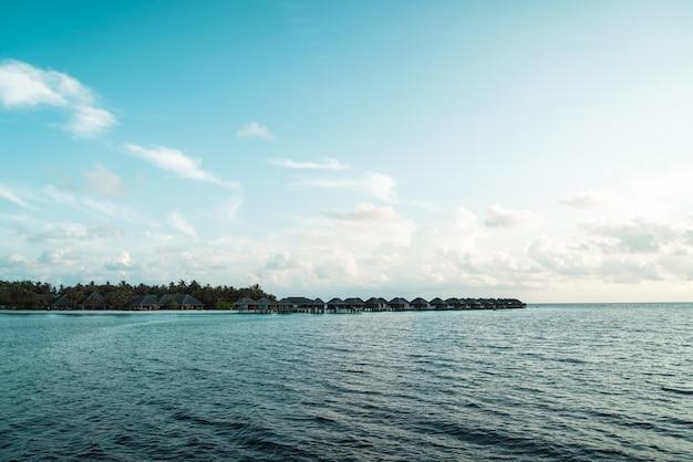 Maldives island with  ocean