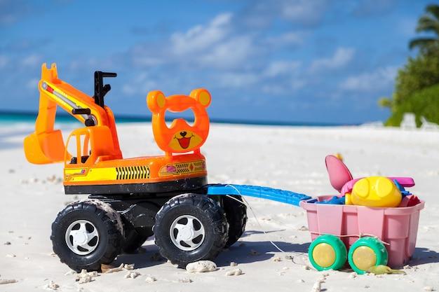 モルディブ、ビーチでのおもちゃ