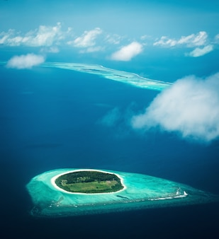 Maldives view from the seaplane