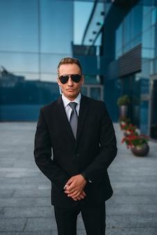 Male bodyguard, politician persons safeguard