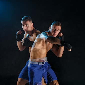 Male boxer boxing