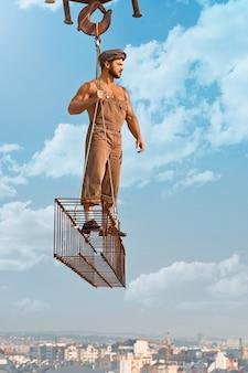 建設中の男性ビルダー