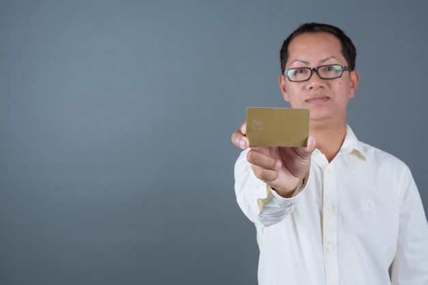 Male businessmen holding banknotes, cash making gestures with sign language