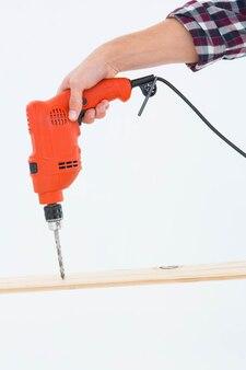 Буровое отверстие для плотницкого дерева
