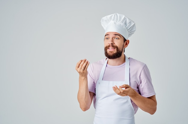 Male chef professional kitchen gourmet cooking