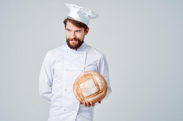 男性料理人クッキングベーカリープロの感情