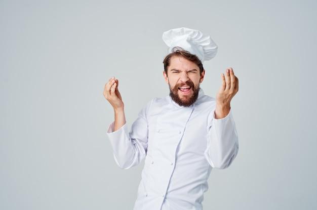 男性料理レストランサービスの提供孤立した背景