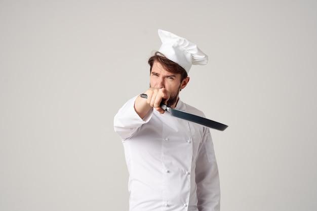 Мужской повар ресторан предоставление услуг изолированный фон