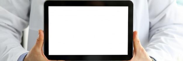 Мужской доктор холдинг цифровой планшетный пк