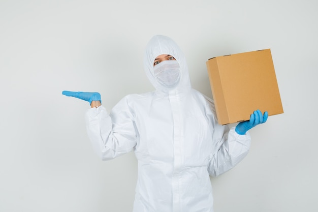 Male doctor in protective suit