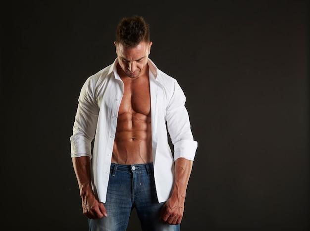 Male fit model