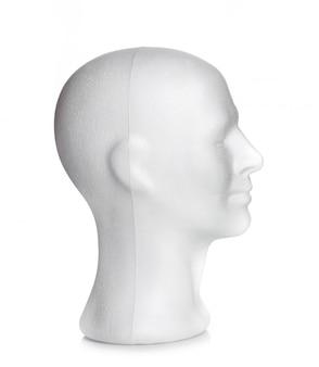 스티로폼의 남성 머리