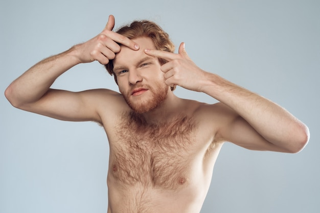Male hygiene. morning hygiene procedures.
