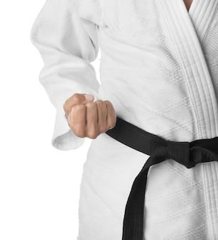 Инструктор по карате, крупным планом