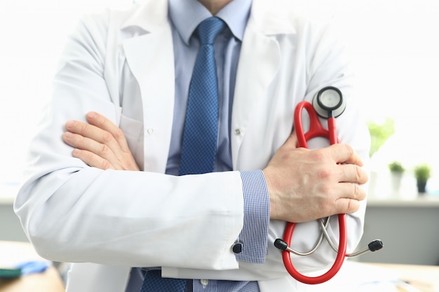 Male in personal office in clinic