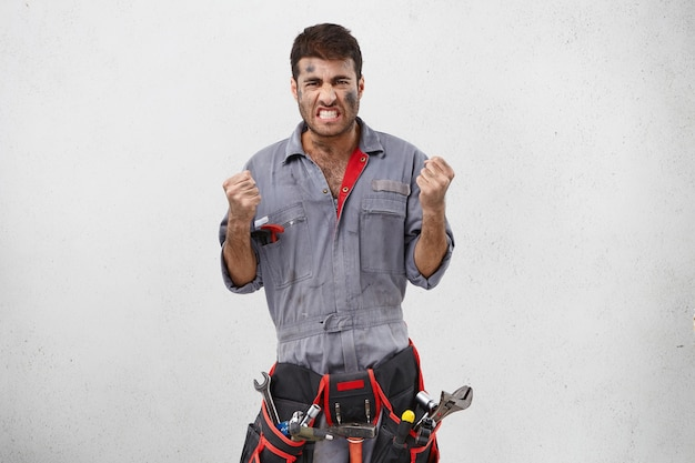 Male worker wearing work clothes