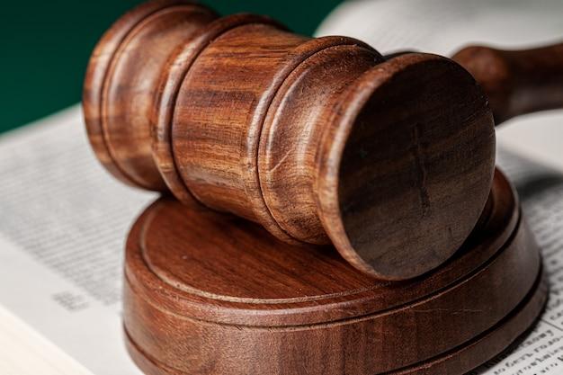 Mallet of a judge, close up shot