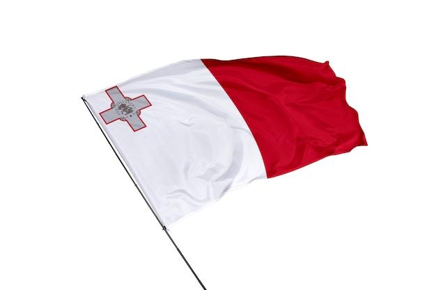 Флаг мальты на белом фоне