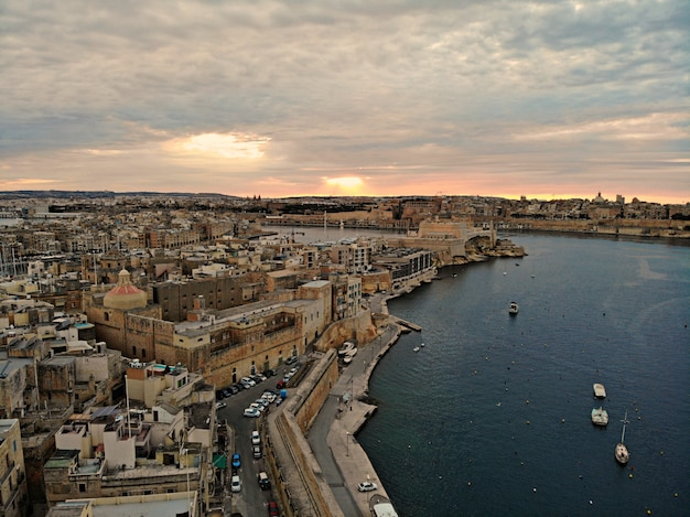 Malta from above. new point of view for your eyes. beautiful and unique place named malta. for rest, exploring and adventure. must see for everyone. europe, island in mediterranean sea.
