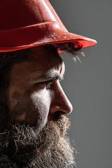 헬멧 건설 산업의 안전모 감독 또는 수리공의 남자 빌더 산업 빌더
