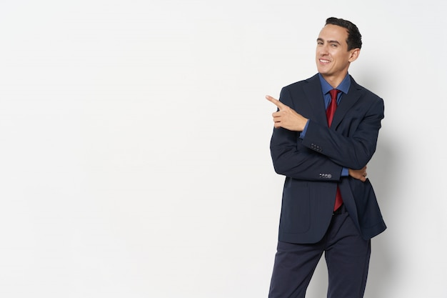 Man business suit emotions on different surfaces