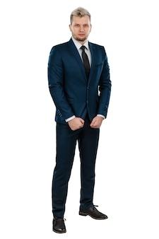 完全な成長のビジネススーツの男性実業家