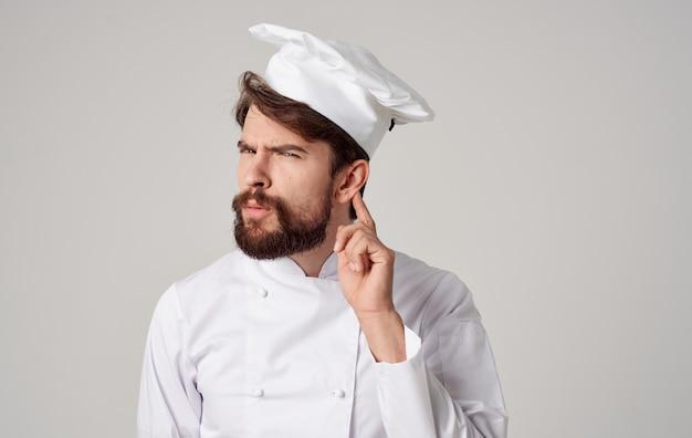 Человек повар эмоции ресторан профессиональная работа кулинария