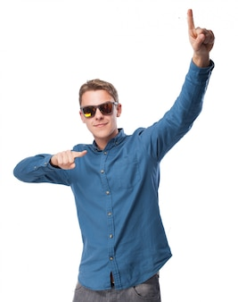 Man dancing with sunglasses