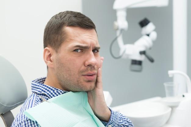Man at dentist