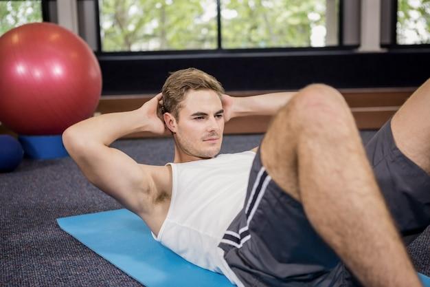 Man doing abdominal crunches