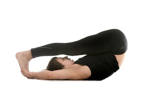 Man doing flexibility exercises