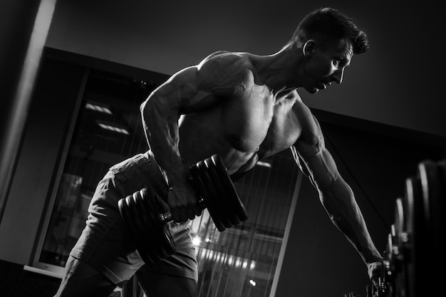 Man doing one-arm row exercise