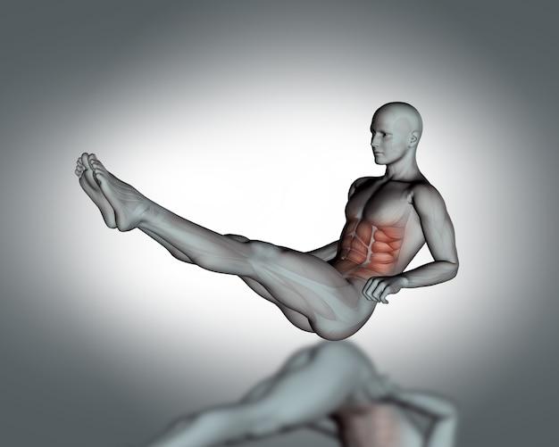 Man doing sit-us with raised legs