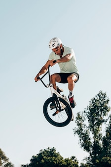 Man doing tricks in air