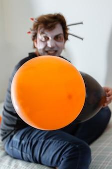 Man dressed for halloween