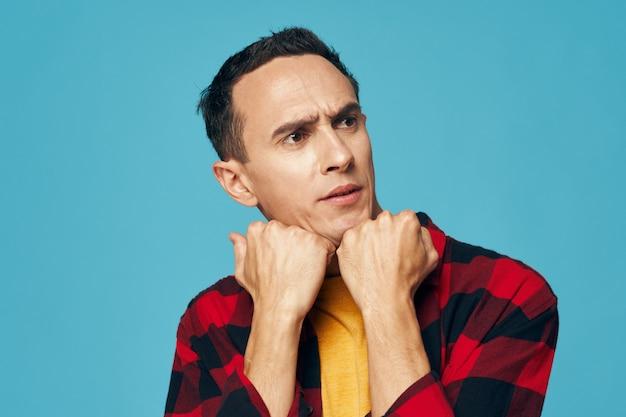 Man emotions face portrait