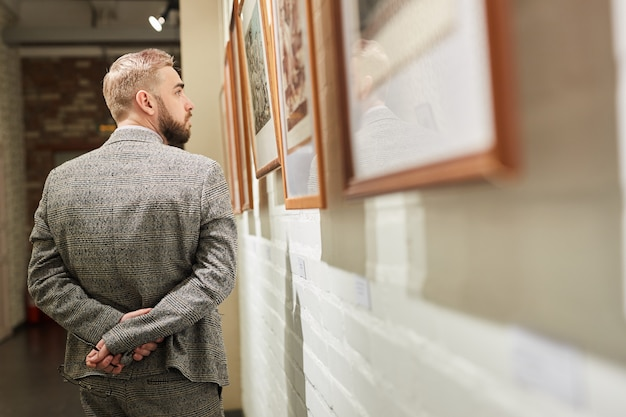 Man enjoying the modern art