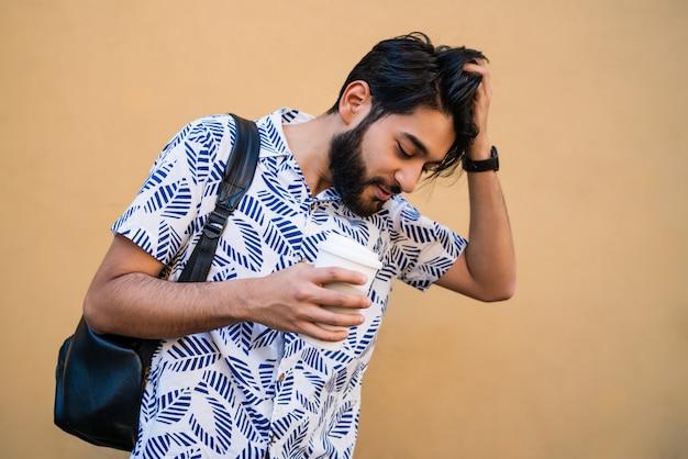 Man enjoying summer and wearing summer clothes.