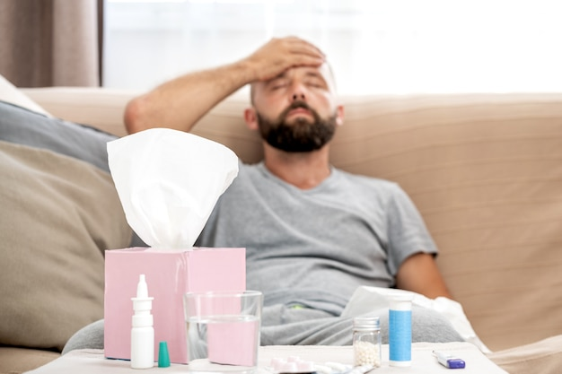 Man feels badly ill