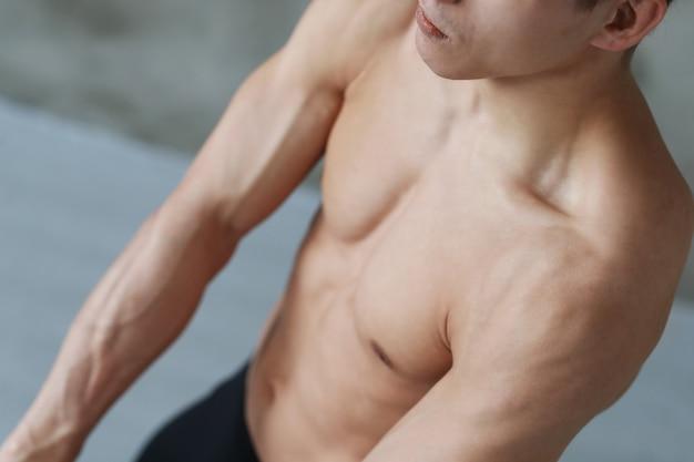 Man fitness workout