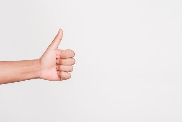 Человек жестом, как символ