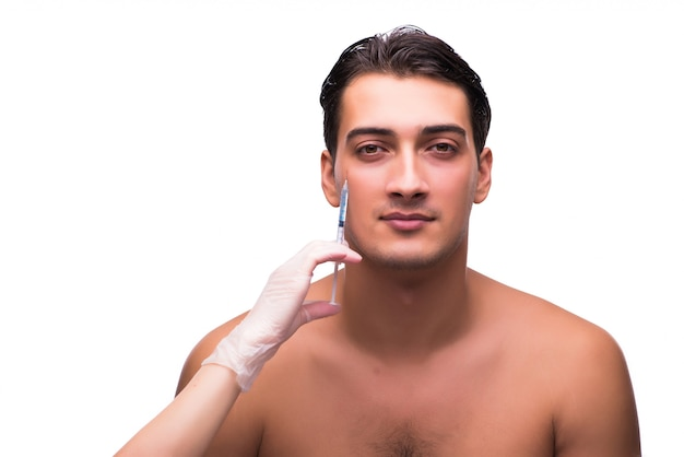 Man getting injection