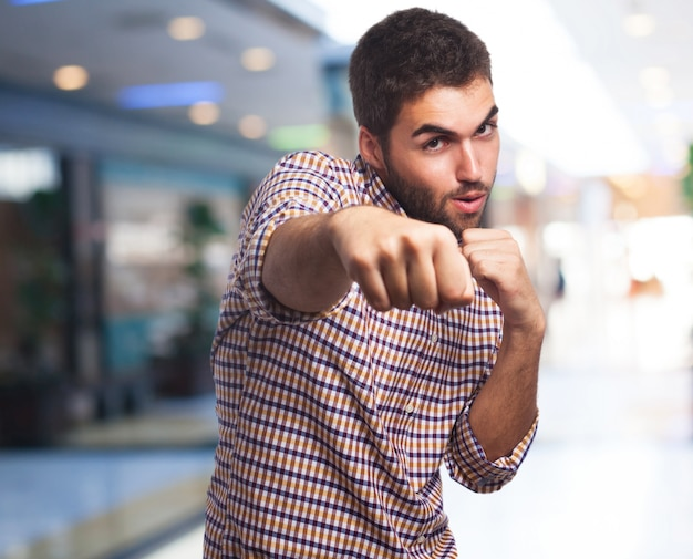 Man giving a punch