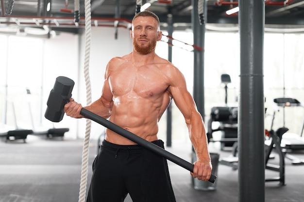Man gym hammer