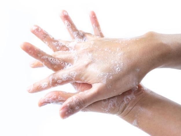 Man hand wash for kill germ