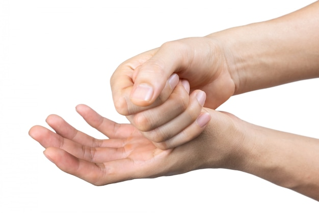 Man hand wash sanitizer gel