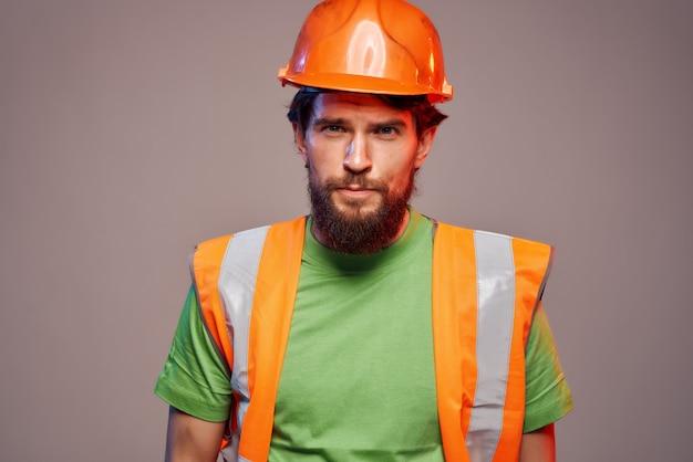 남자 하드 직업 산업 고립 된 배경