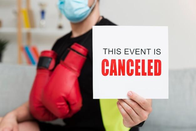 このイベントを開催している人はキャンセルされたカード